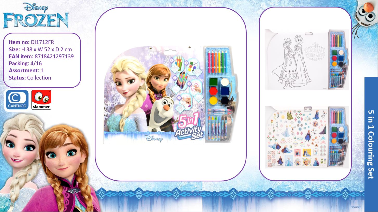 Disney Frozen Large 5 in 1 Colouring Set