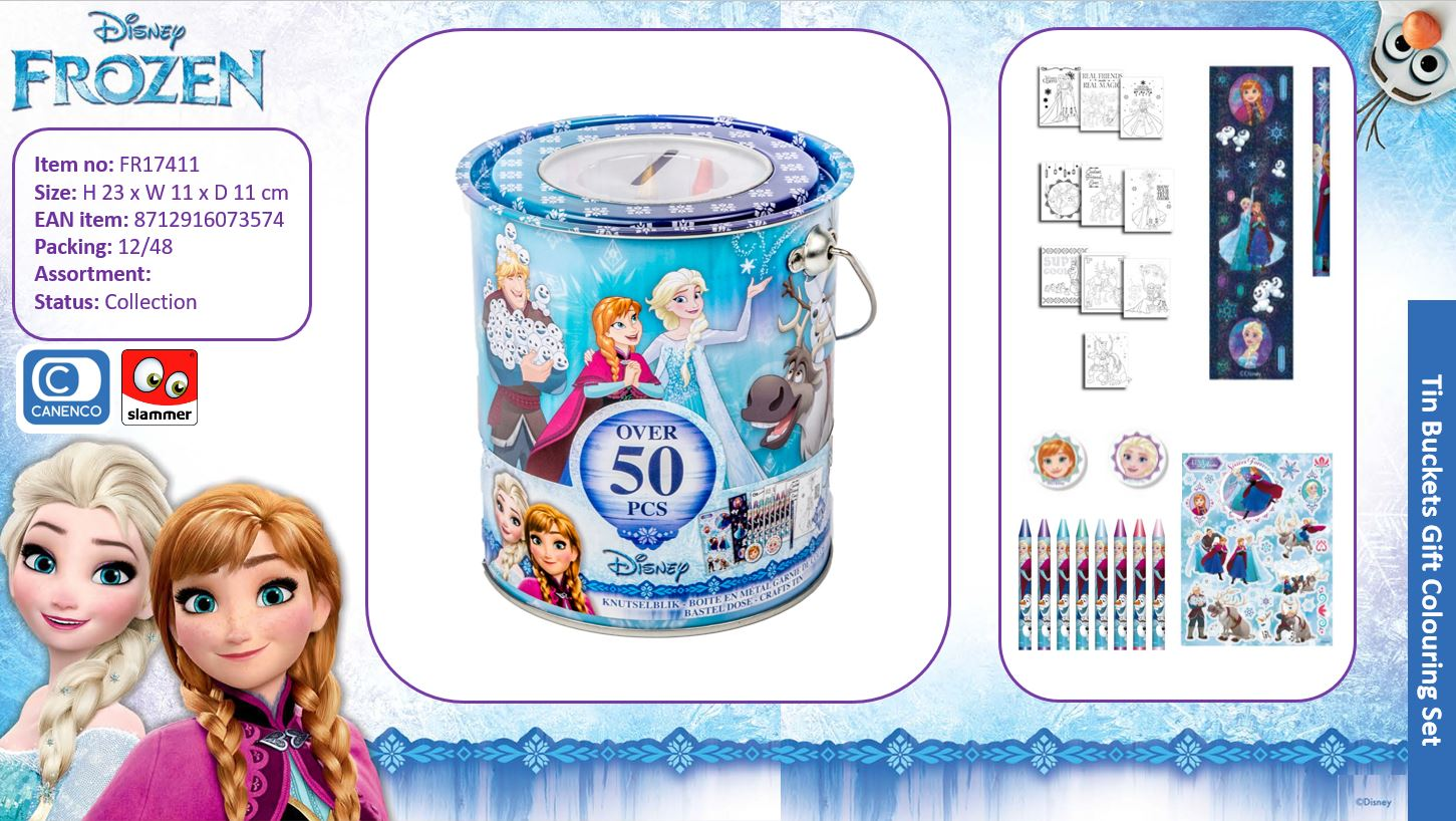 Disney Frozen Filled Tin Colouring Bucket