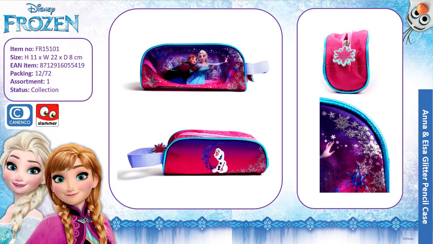 Disney Frozen Glitter Pencil Case