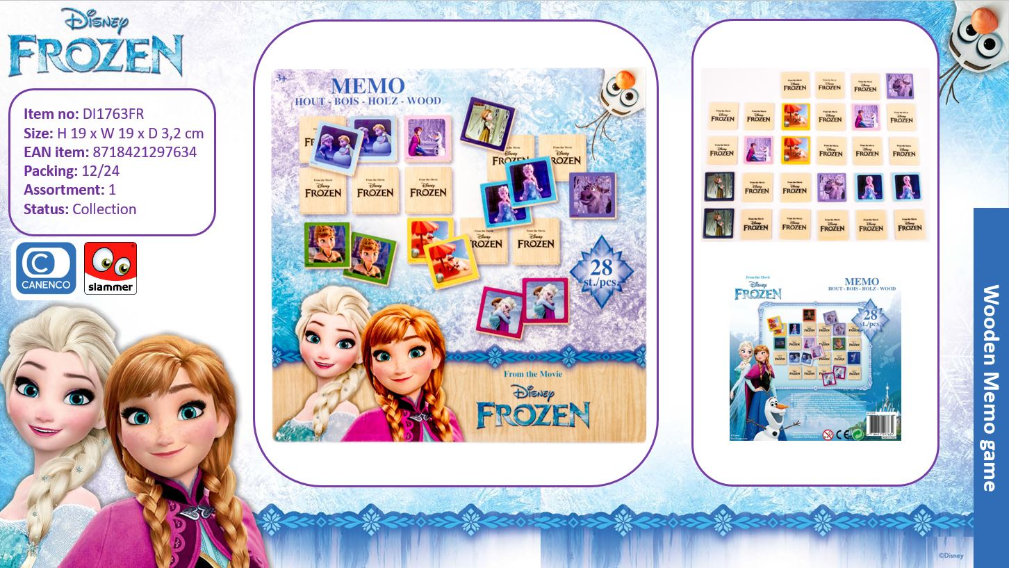 Disney Frozen Wooden Games Memo