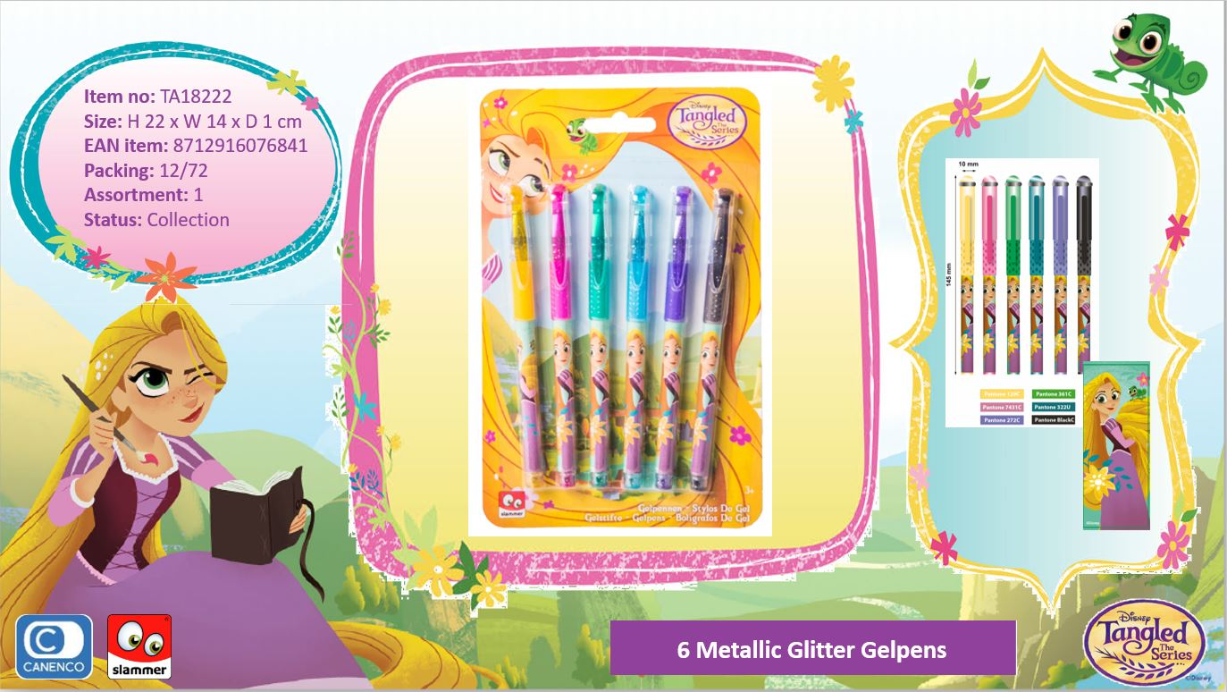 Disney Tangled 6 Gelpens