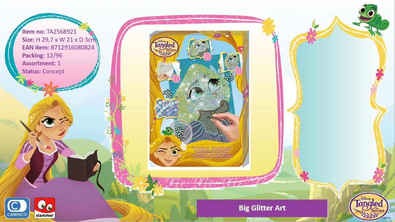 Disney Tangled Big Glitter Art