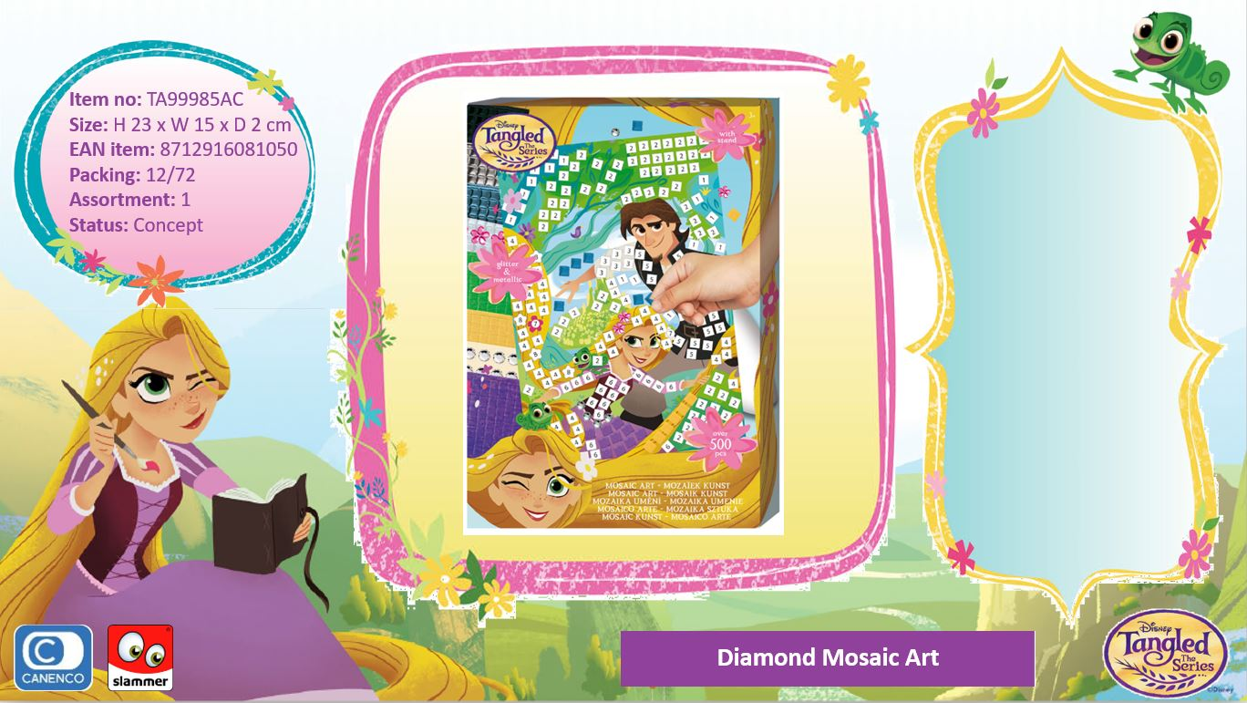 Disney Tangled Diamond Mosaic Art