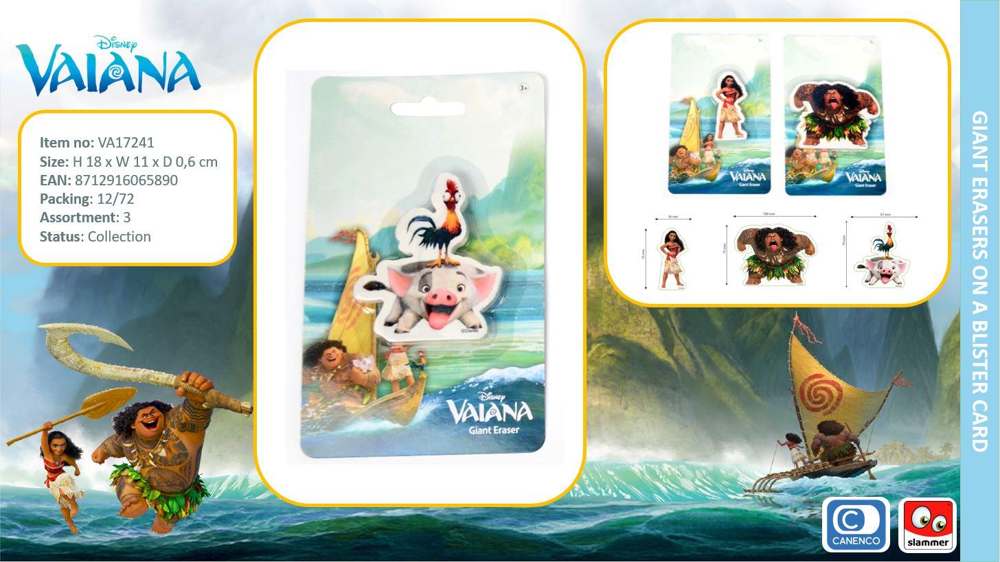 Disney Vaiana Giant Eraser 3-Assorted