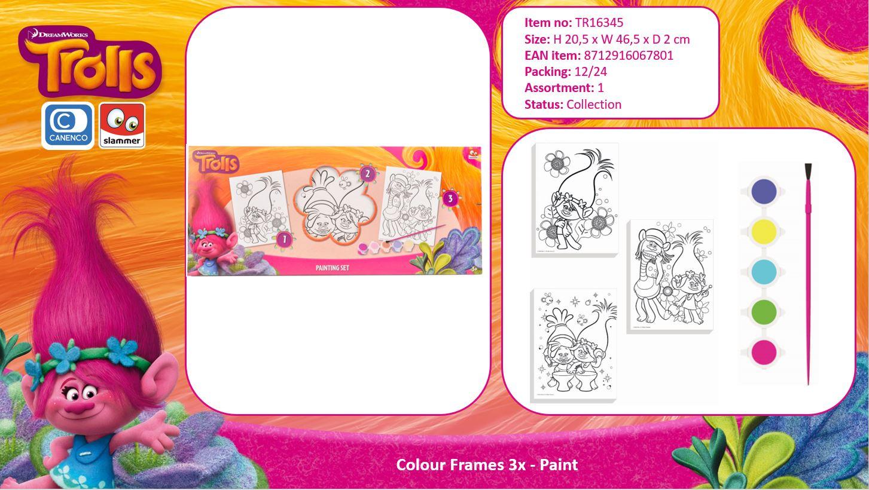 DreamWorks Trolls Colour Frames 3X