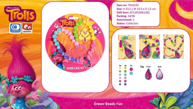 DreamWorks Trolls Eraser Beads necklace