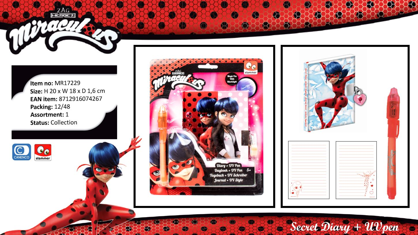 Miraculous Secret Diary & UV Pen