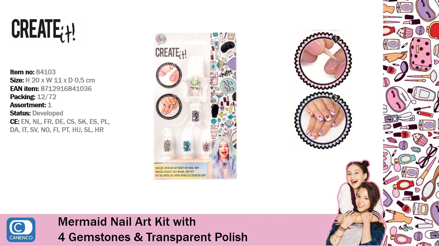 Create It! Mermaid Nail Art Kit