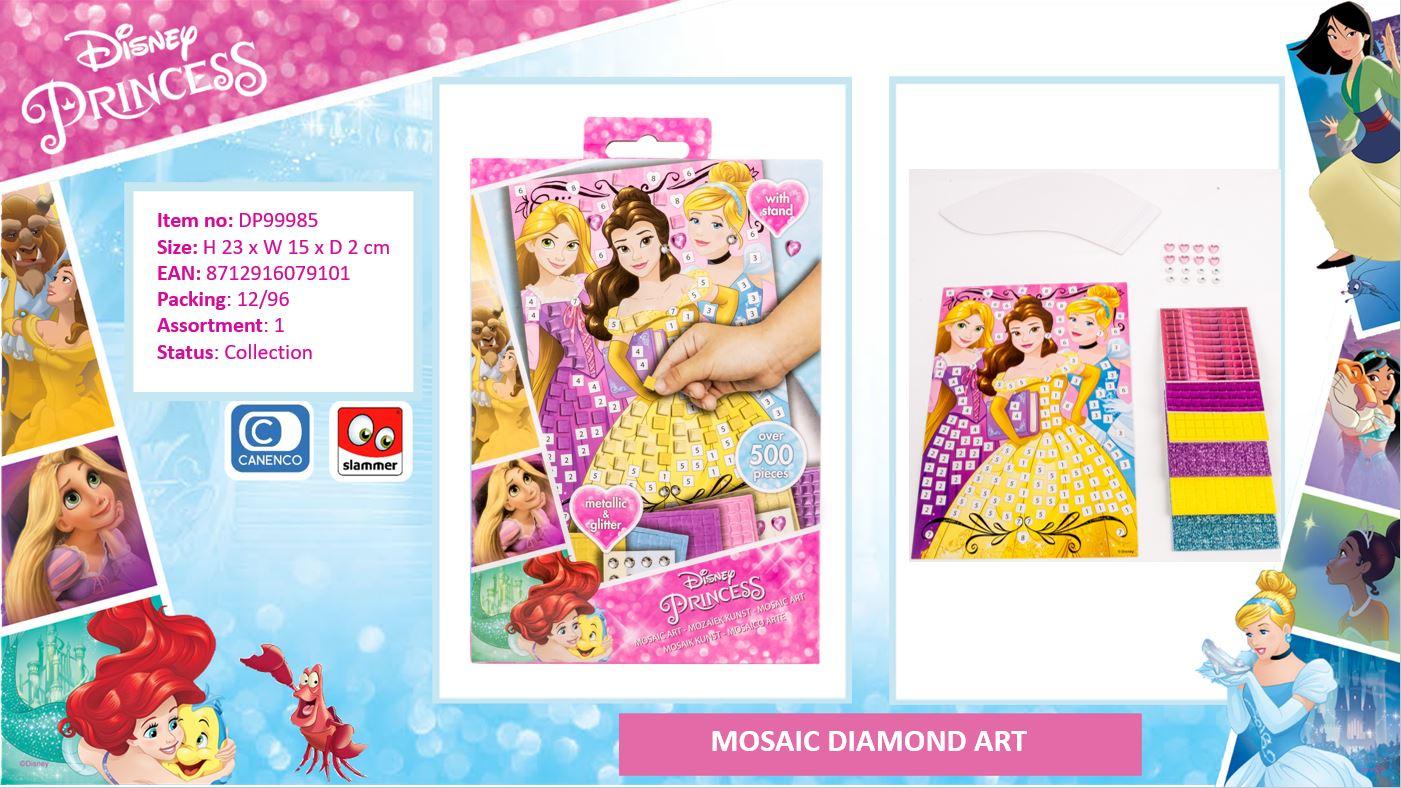 Disney Princess Diamond Art Cinderella, Rapuzel & Elza