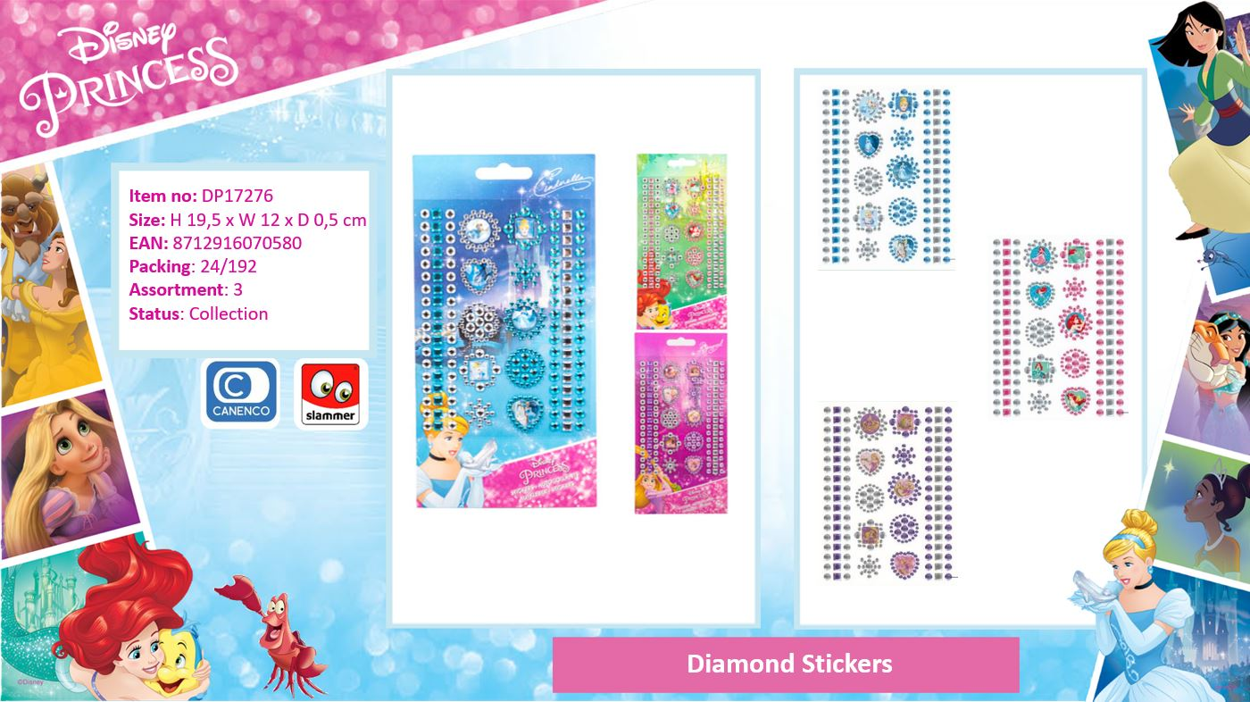 Disney Princess Diamond Stickers