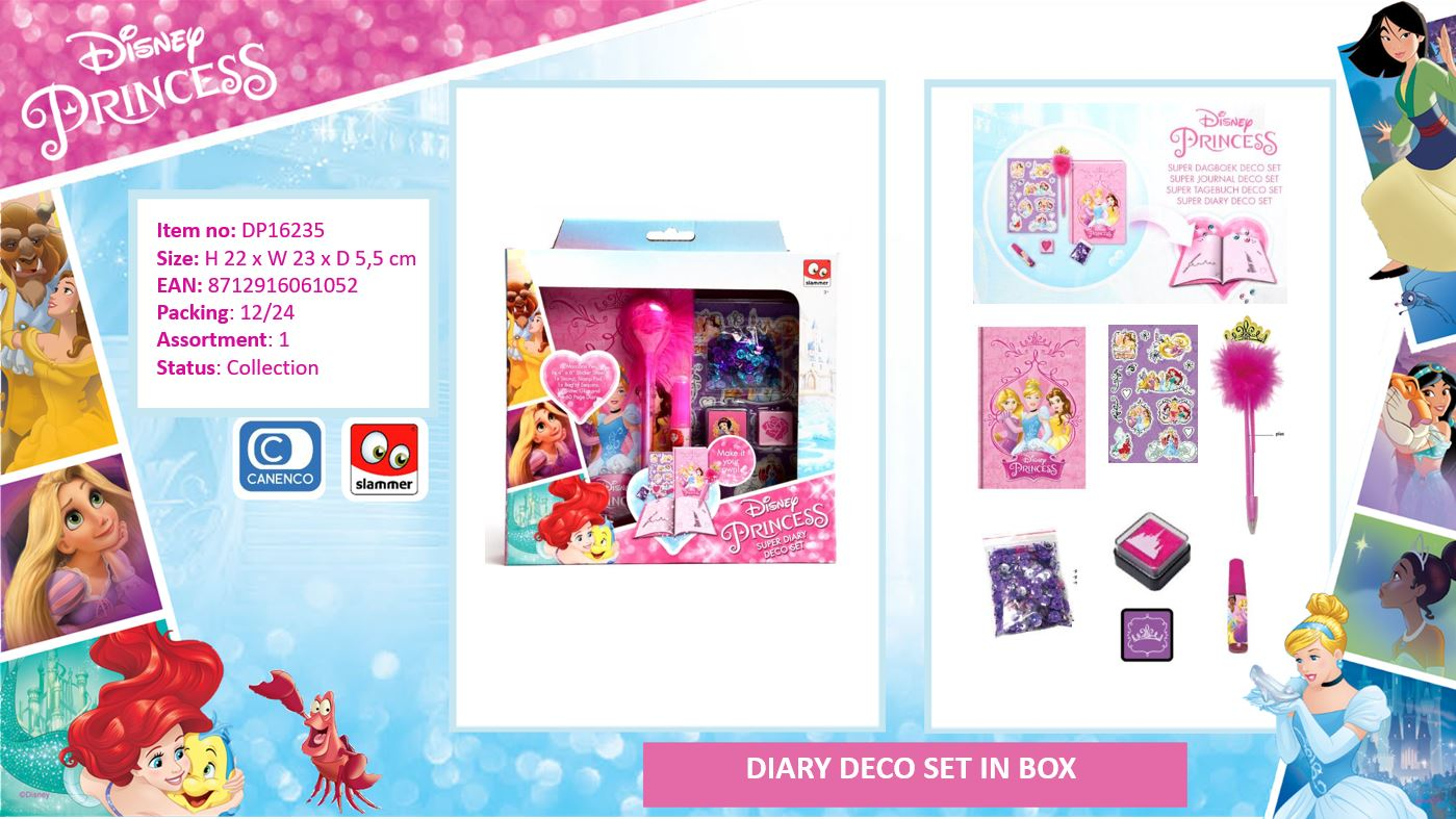 Disney Princess Diary Deco Set
