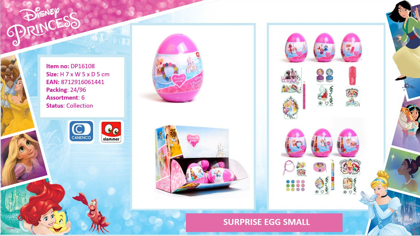 Disney Princess Surprise Eggs small 6-Assorted
