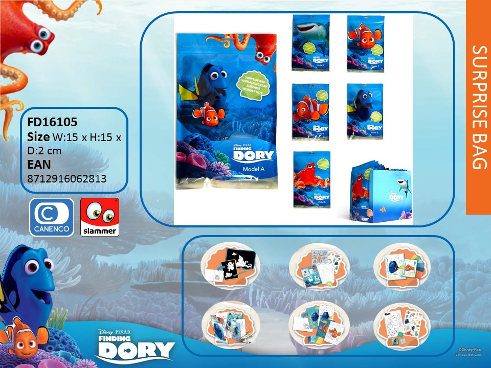 Finding Dory Surprise Bags 6 assorted
