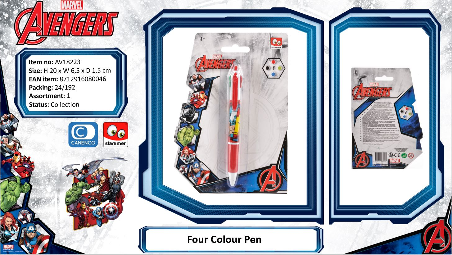 Marvel Avengers Four Colour Pen