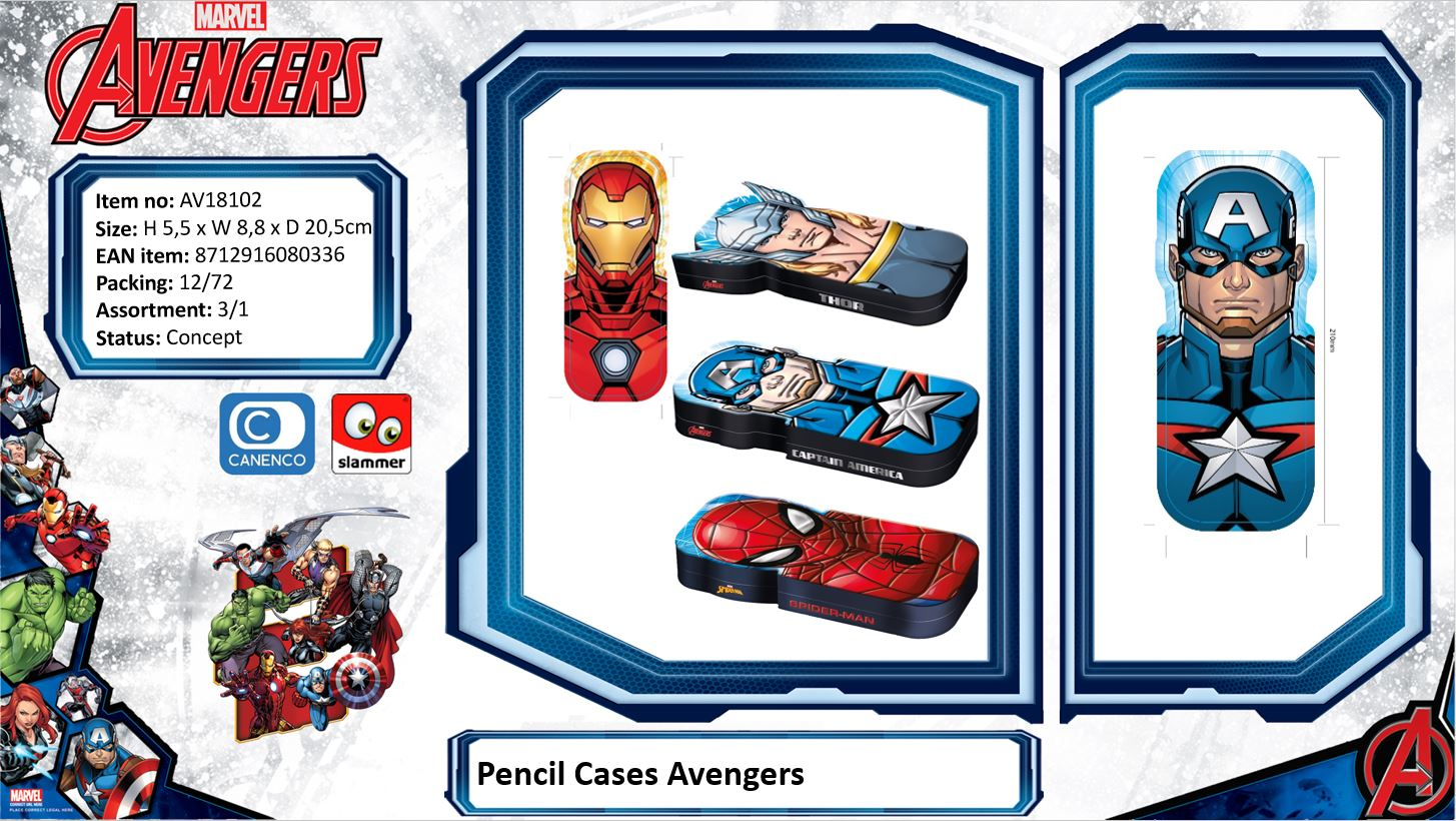 Marvel Avengers Pencil Cases