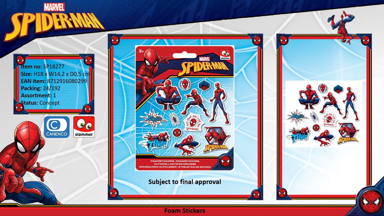 Marvel Spiderman Foam Stickers